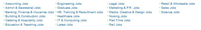 UK Job Categories